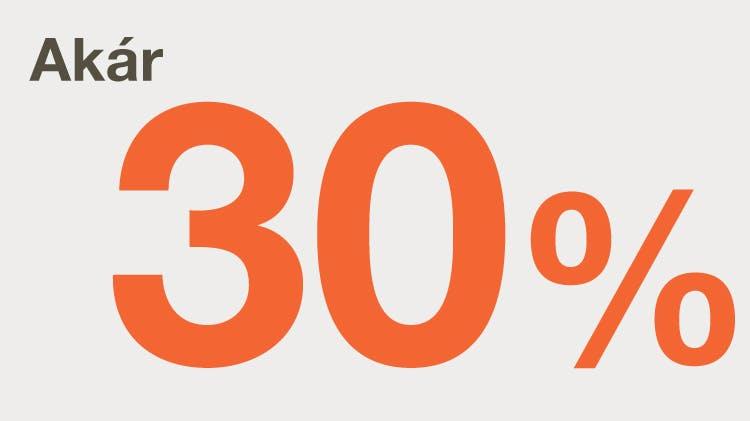 Akár 30% ikon