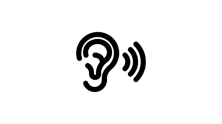 Hallás ikon
