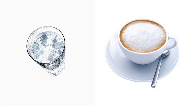 Hideg víz, forró kávé