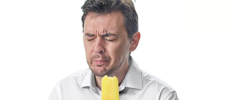 Fájdalmas jégkrémfogyasztás