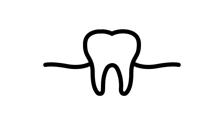 Icon dente e gengiva