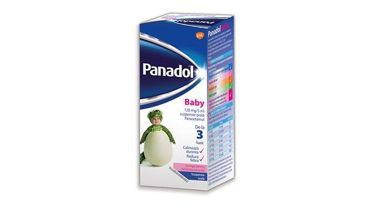 Fotografia ambalajului Panadol Baby.