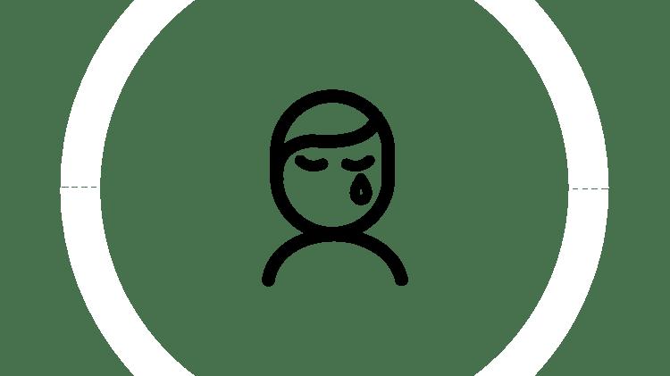 Графическое изображение плачущего человека