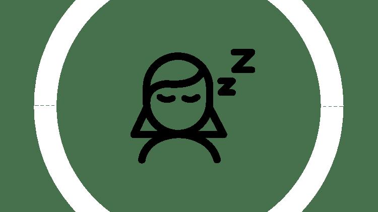 Графическое изображение спящего человека