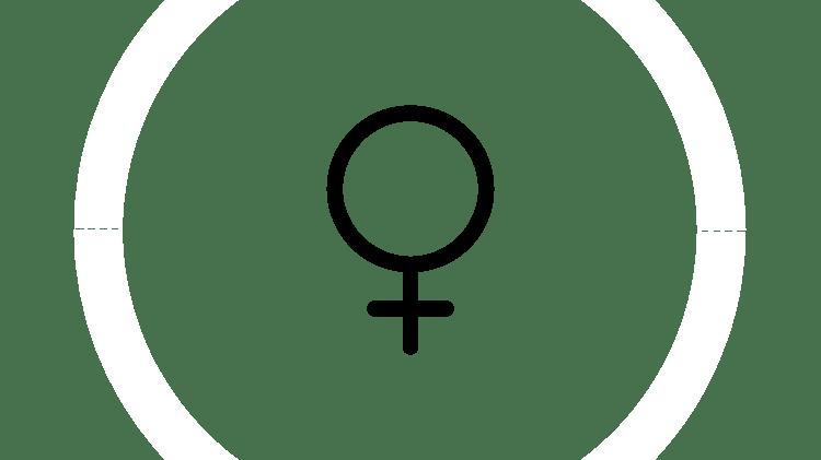 Графическое изображение женского символа