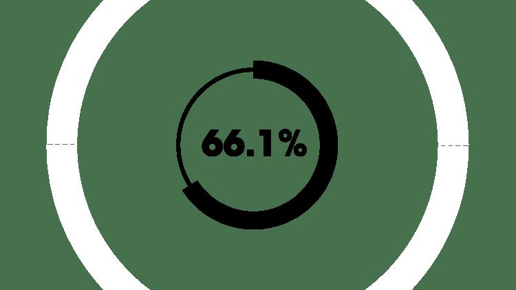 66,1 %