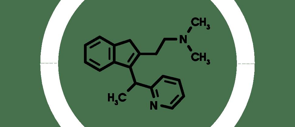 Химическая структура диметиндена малеата
