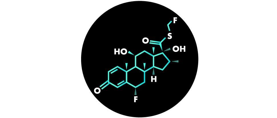 Молекула флутикозона пропионата