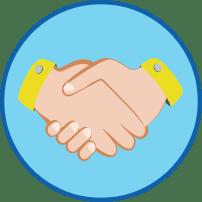 Schüttelnde Hände Symbol