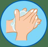sich waschende Hände Symbol