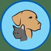 Haustiere Köpfe Symbol