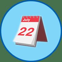 Календарь круглый значок
