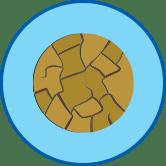 Потрескавшаяся кожа круглый значок