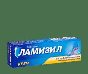 Упаковка крема Ламизил