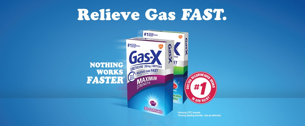 Gas-X Products provides relief from gas, bloating, and pressure