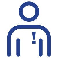 Breathing difficulty icon.