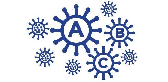 Icon for influenza virus types.