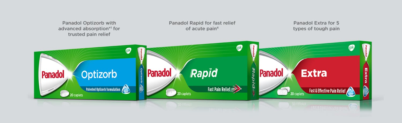 Panadol Optizorb, Rapid & Extra