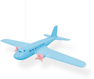 Avión de juguete.