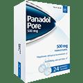 Panadol Pore 500 mg -kipulääke aikuisille