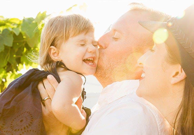 Momento de felicidade em família