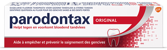 Boîte de dentifrice rouge parodontax Original