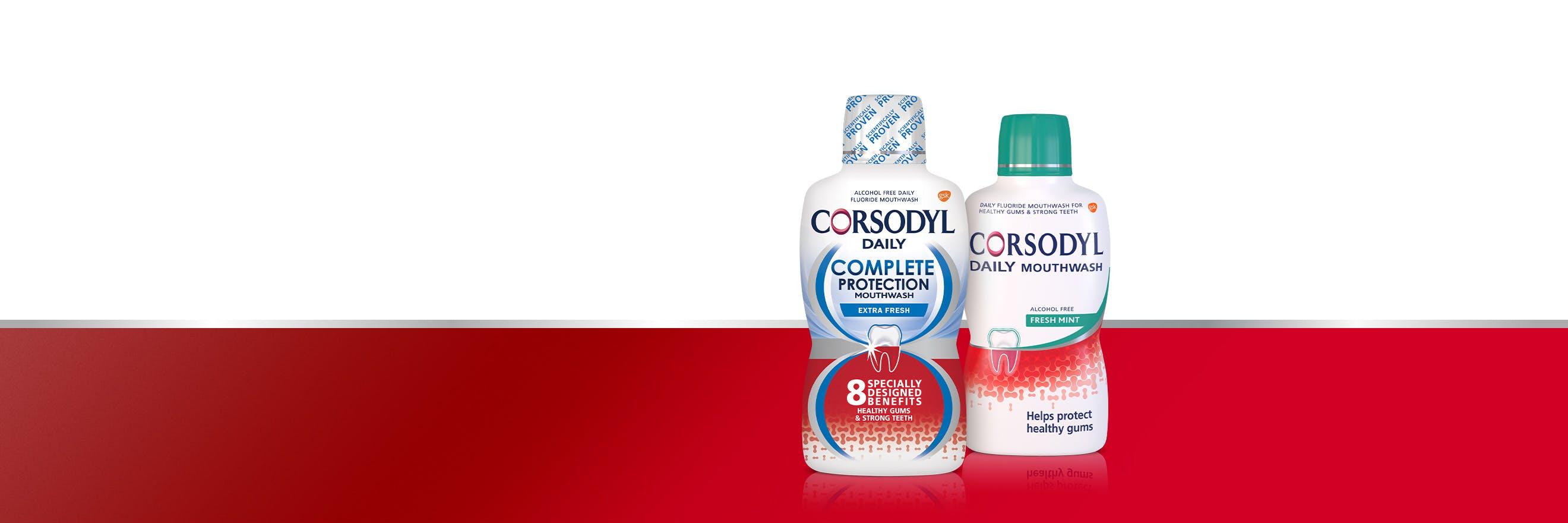 Corsodyl Mouthwash range