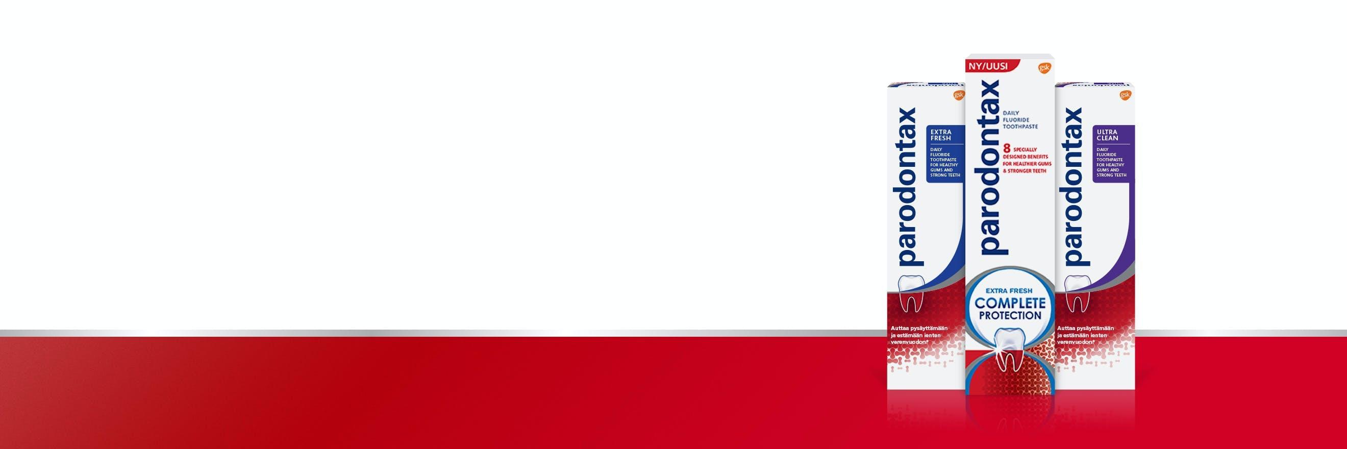 Hammastahna vuotaville ikenille ja parodontiitin ehkäisyyn sekä päivittäiseen ammattilaistason hoitoon
