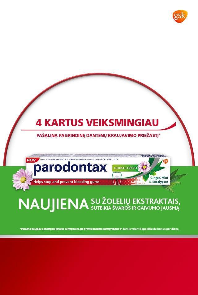 parodontax kasdienės priežiūros burnos skalavimo skystis