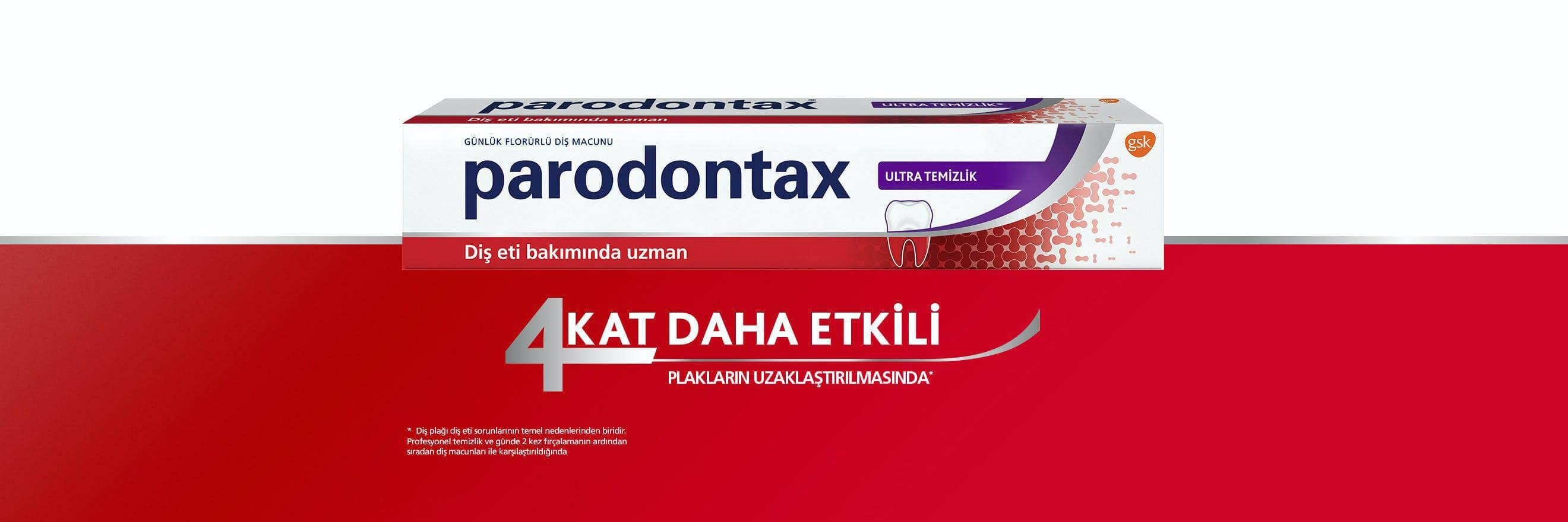 Yeni parodontax Ultra Temizlik diş macunu