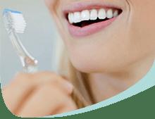 Woman Brushing Teeth Callout