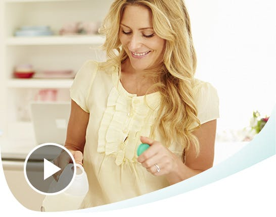 Woman Pouring Milk