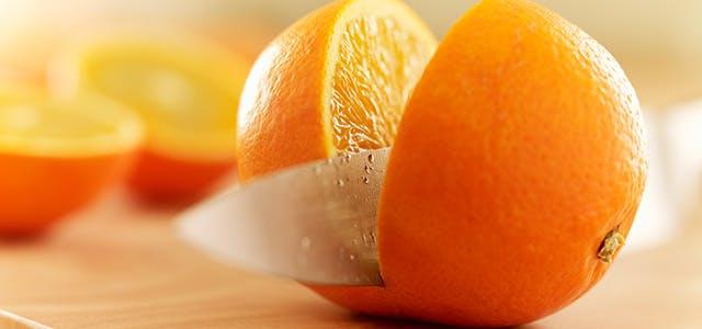 Oranges acides tranchées