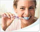 Woman Brushing Teeth Callout Mobile