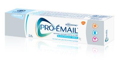 Boîte de dentifrice Pro-Émail® Blanchissant doux