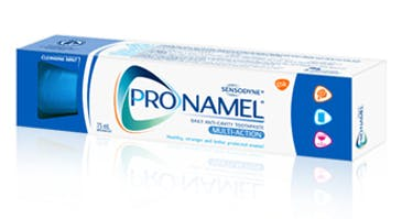 A box of Pronamel®  Multi-Action Toothpaste