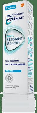 Boîte de dentifrice Pro-Émail® Résistant et Éclatant menthe
