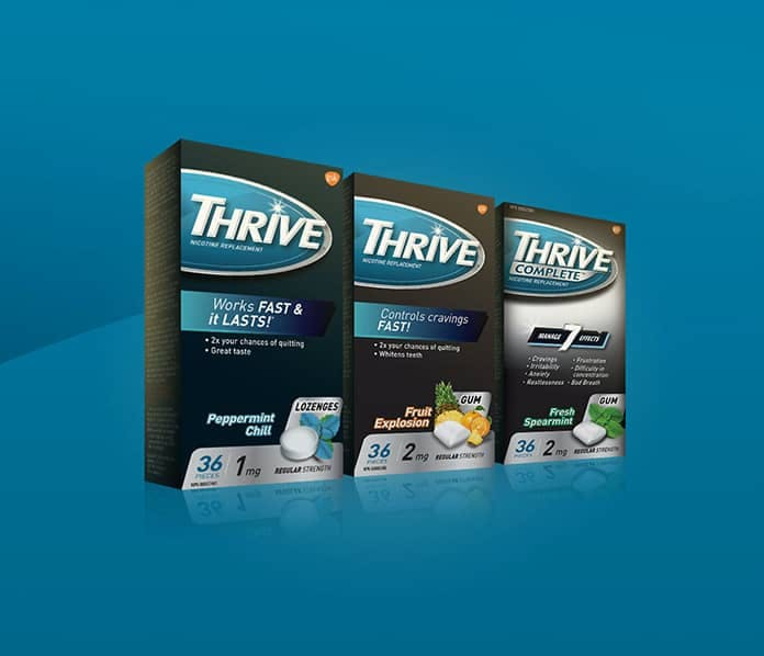 THRIVE lozenges, gum, and complete gum packages