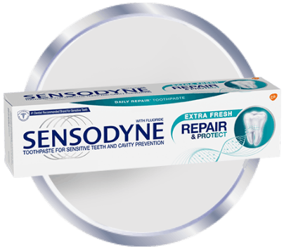 Sensodyne Repair and Protect toothpaste icon