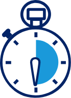 Brush your teeth for 2 minutes stopwatch icon