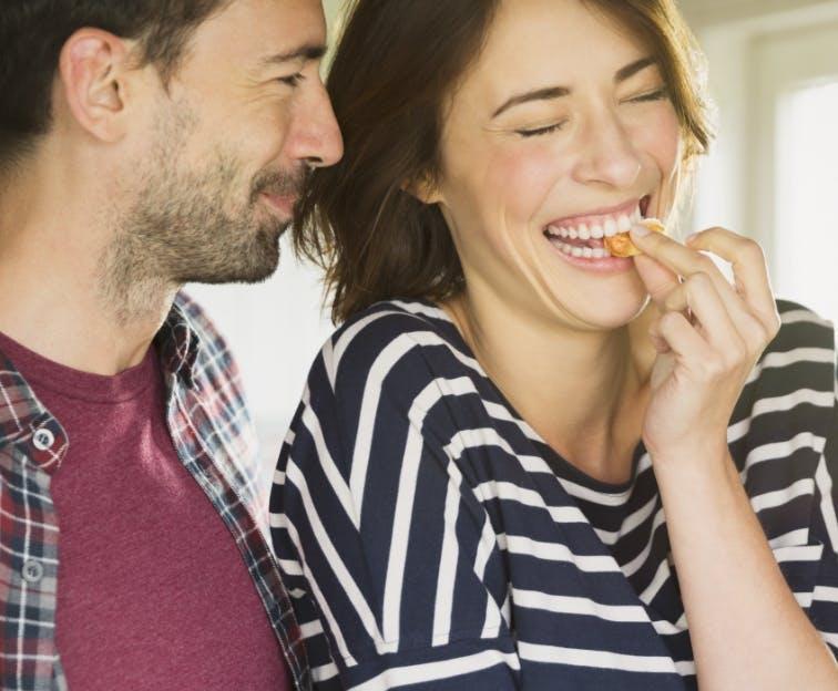 Couple uses Sensodyne toothpaste to help their sensitive teeth