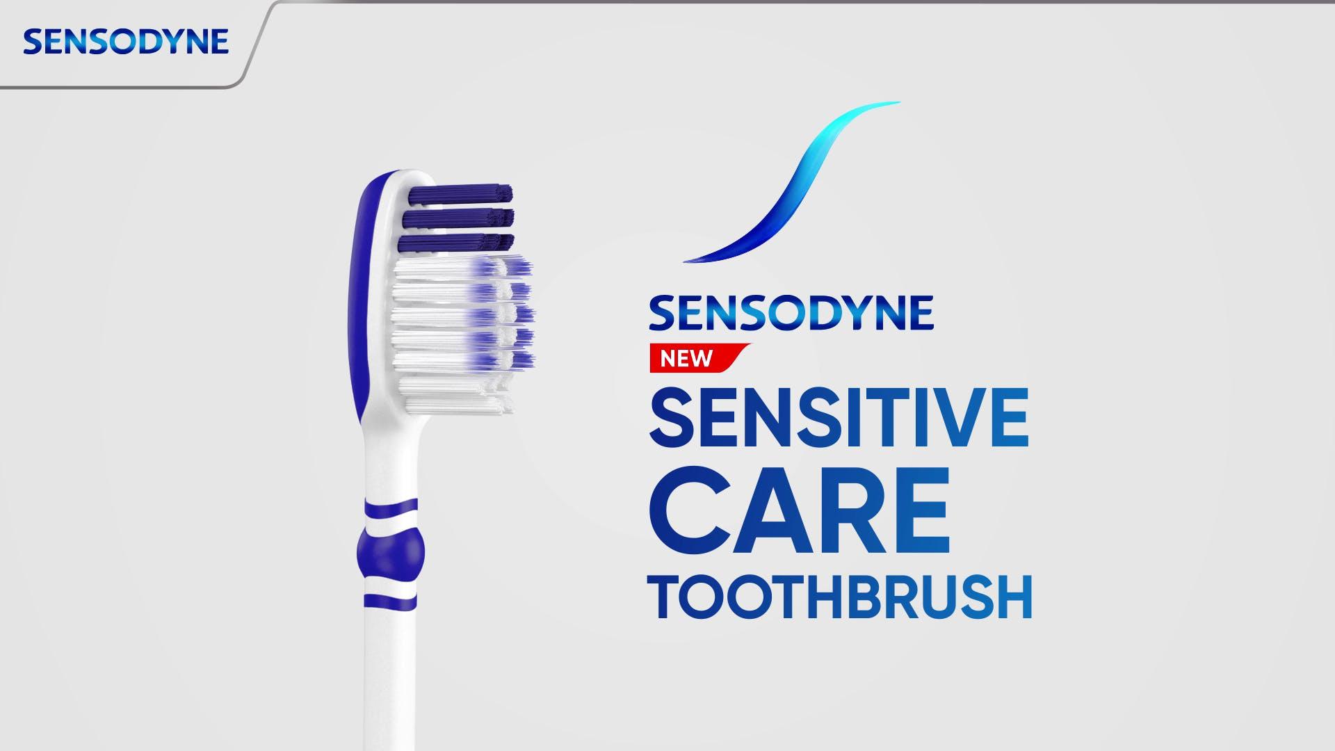 Sensodyne sensitivity and Care Toothbrush video