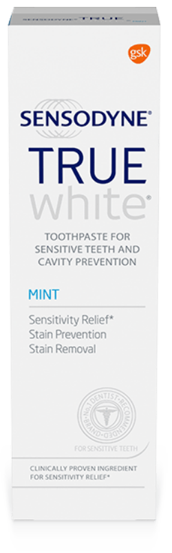 Packshot photography of Sensodyne True White Mint
