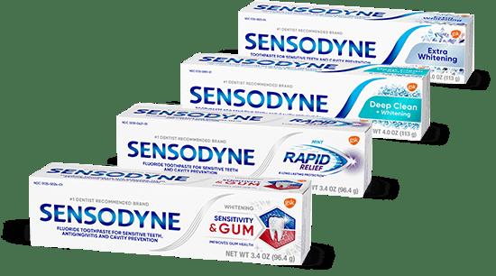 Sensodyne four products