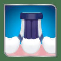 Toothbrush head on sensitive teeth