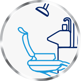Icon of dentist's chair