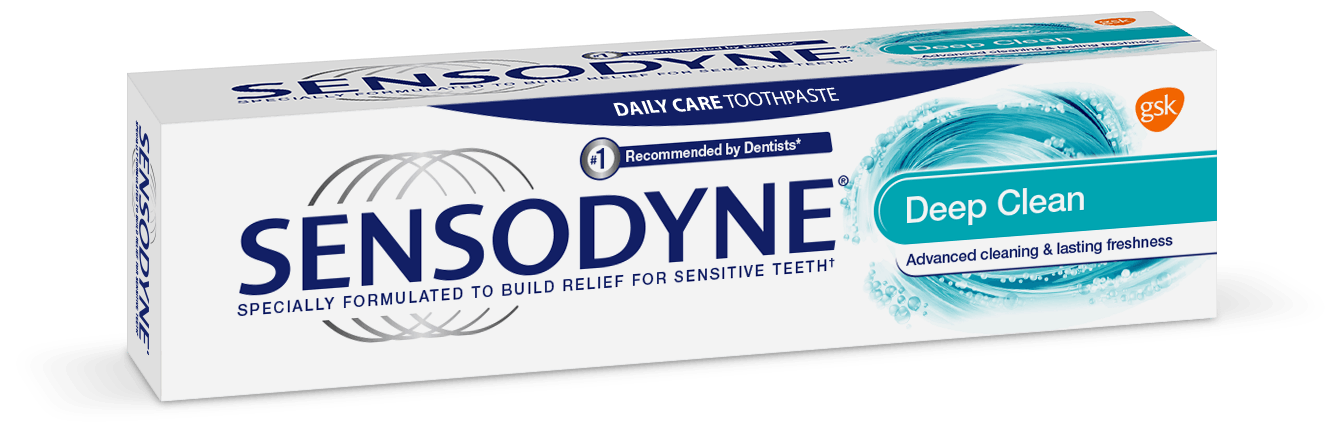 Sensodyne Deep Clean toothpaste header