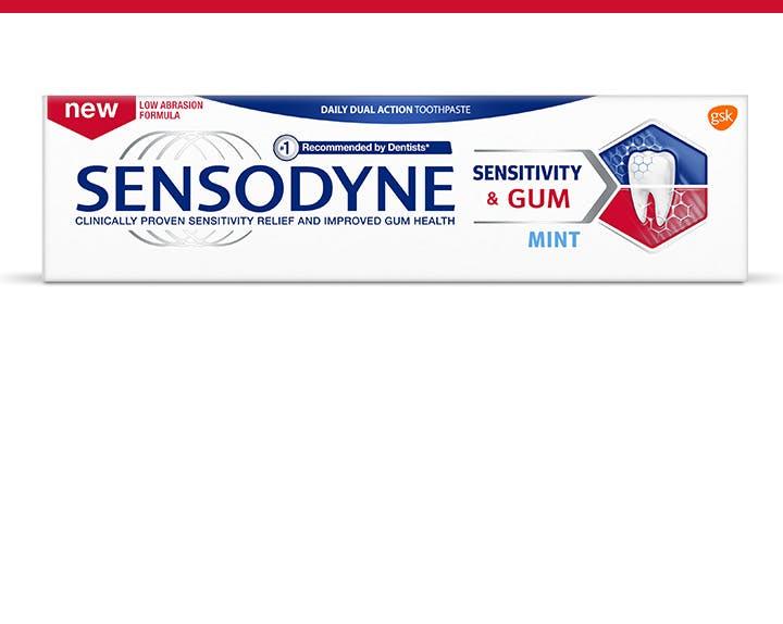 Sensodyne sensitivity relief toothpaste box
