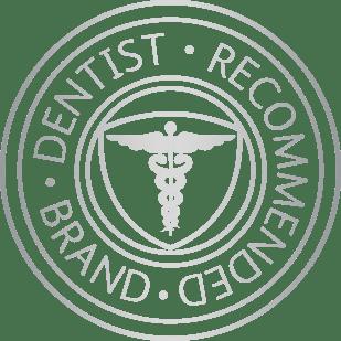Dentist recommended brand symbol
