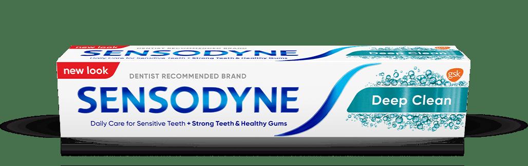Sensodyne toothpaste in Deep Clean